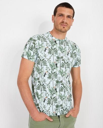 Hellblaues T-Shirt mit Print