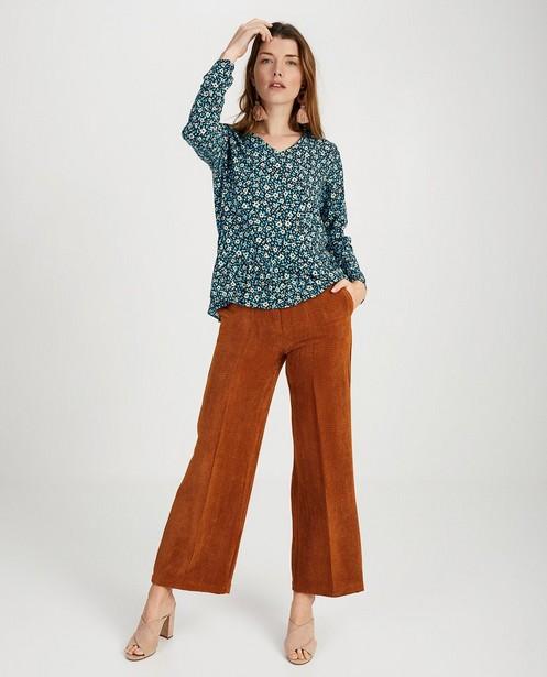 Pantalon rouille Ella Italia - velours côtelé - ella