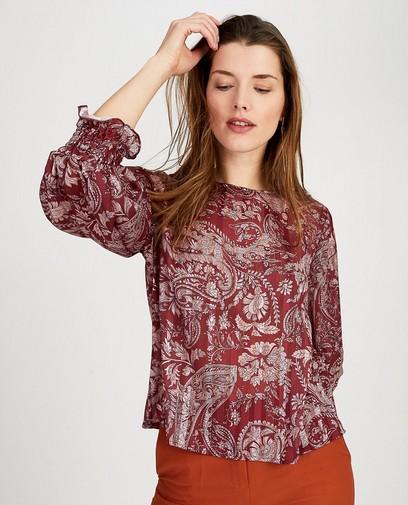 Bordeaux blouse Ella Italia