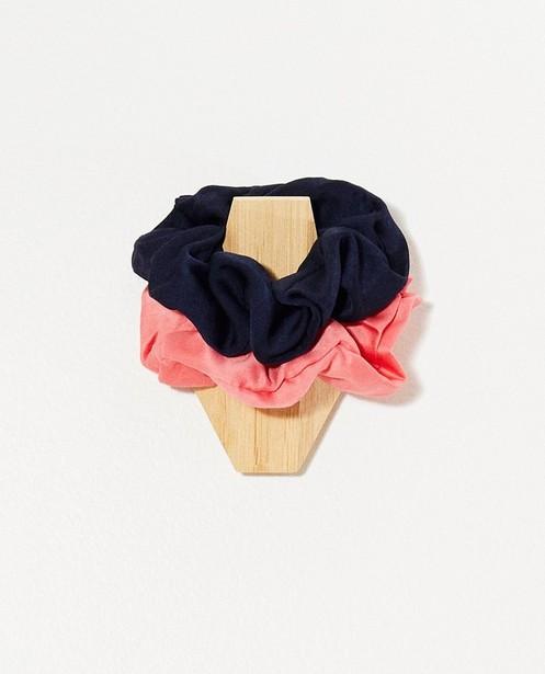 Set van 2 scrunchies - roze en blauw - JBC
