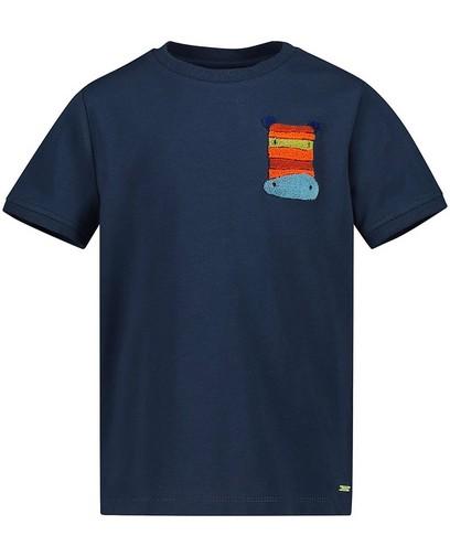 T-shirt bleu à imprimé Maya