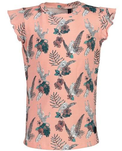 Roze T-shirt met print Levv