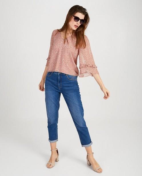 Roze blouse met print Ella Italia - null - Ella Italia