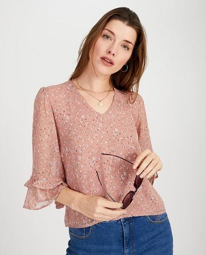 Roze blouse met print Ella Italia