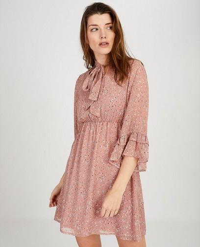 Roze jurk met print Ella Italia