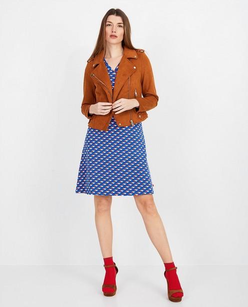 Blauwe jurk met print Froy en Dind - null - Froy en Dind