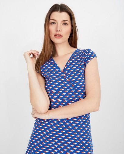 Blauwe jurk met print Froy en Dind