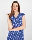 Kleedjes - Blauwe jurk met print Froy en Dind