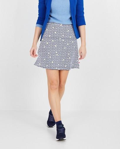 Witte rok met print Froy en Dind