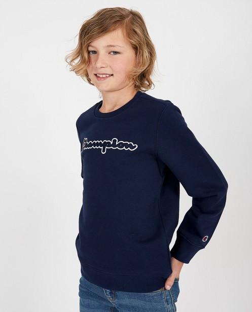Blauwe sweater Champion - met opschrift - Champion