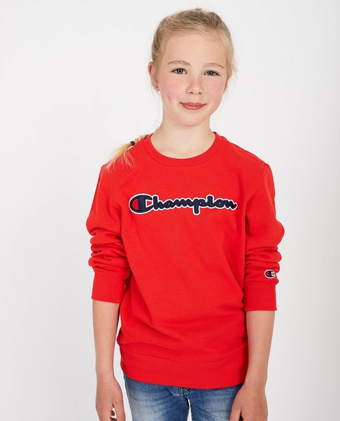 Rode sweater Champion - met opschrift - Champion
