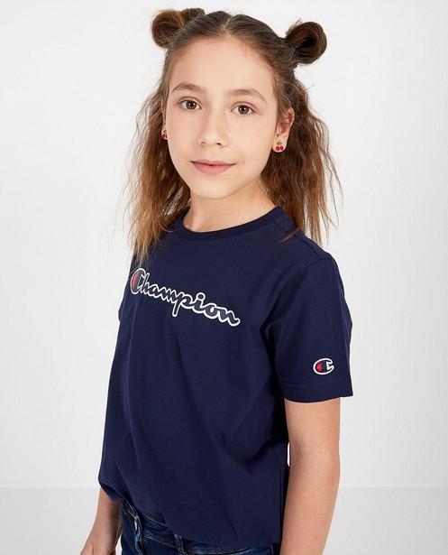 Blauw T-shirt Champion - met opschrift - Champion