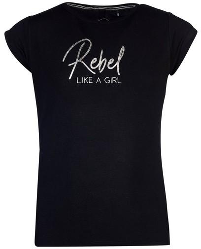 T-shirt noir avec inscription Levv