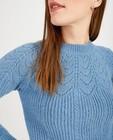 Truien - Witte trui met ajourpatroon