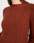 Pulls - Witte trui met ajourpatroon