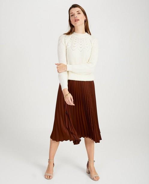 Witte trui met ajourpatroon - null - Ella Italia