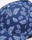 Bonneterie - Casquette bleue avec un imprimé