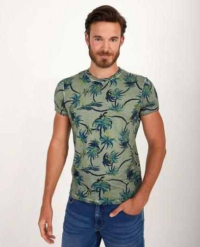 T-shirt vert imprimé