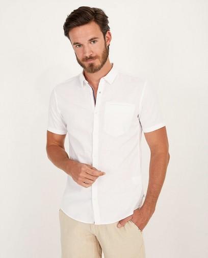 Wit hemd met korte mouwen