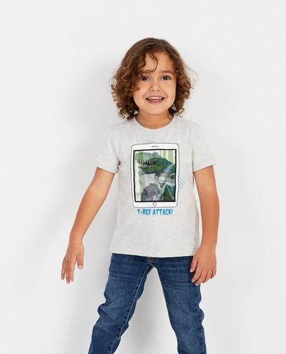 T-shirt gris à imprimé