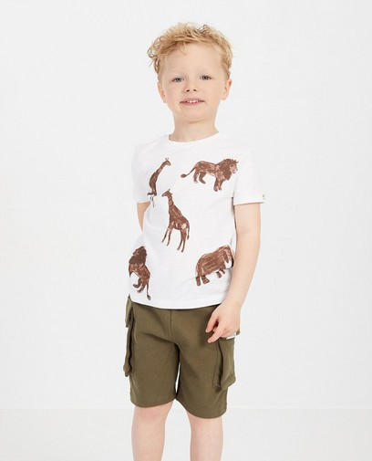 T-shirt blanc, imprimé animal