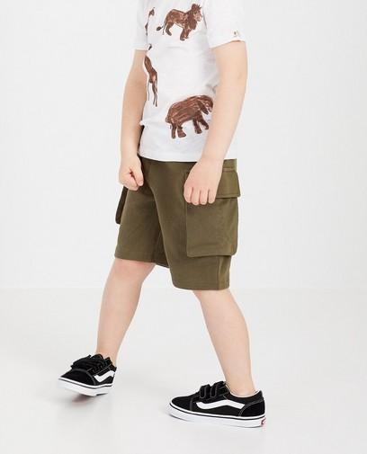 Short molletonné kaki