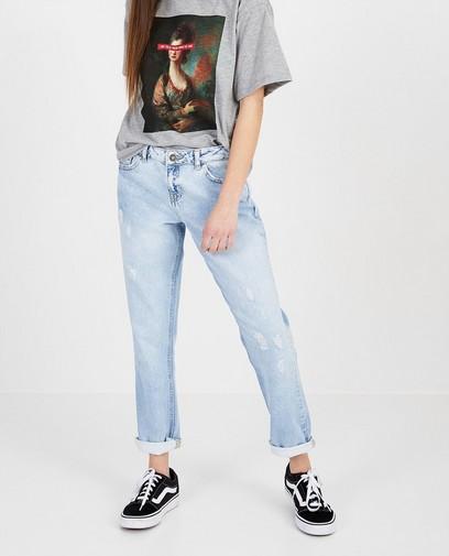 Lichtblauwe jeans - destroyed