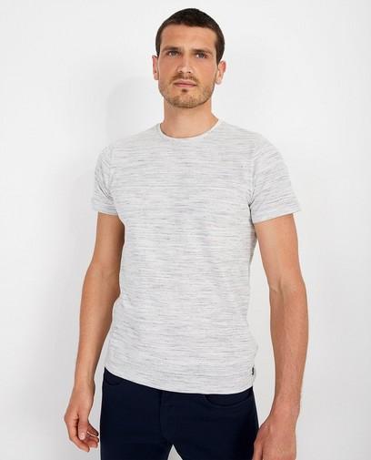 Zwart T-shirt met reliëf