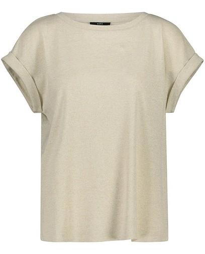 T-shirt blanc, fil métallisé, Sora