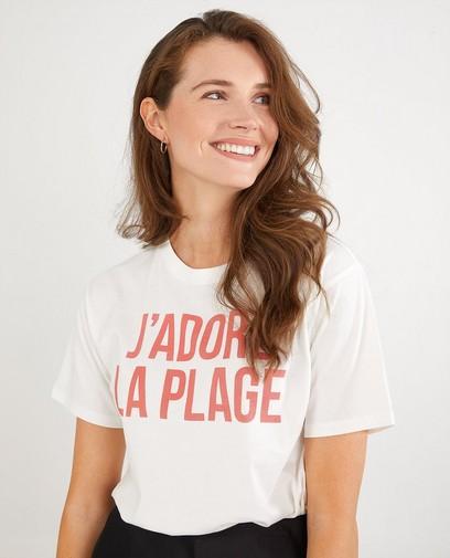 Wit T-shirt met opschrift Youh!