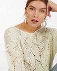 Truien - Witte trui met ajourpatroon Sora