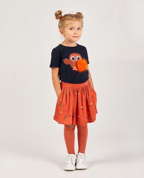 Oranje rokje met print - allover - Milla Star
