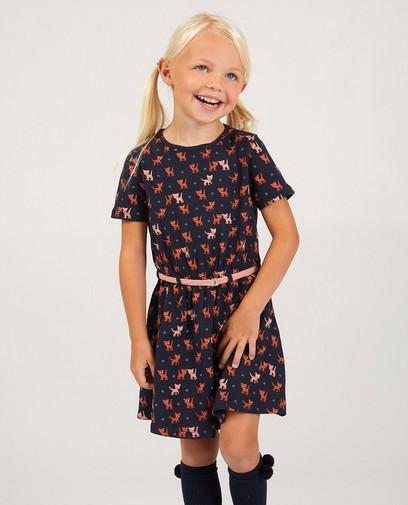 Dunkelblaues Kleid mit Print