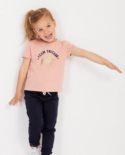 T-shirt rose, imprimé BESTies