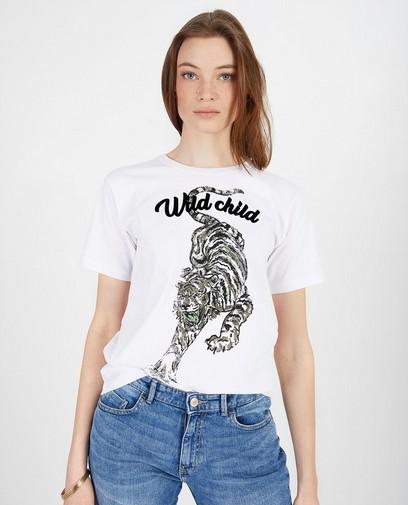 T-shirt blanc, imprimé Sora