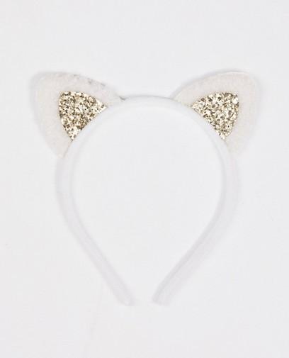 Diadème blanc avec de petites oreilles BESTies