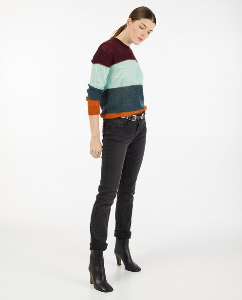 Zwarte straight jeans Sora - met hoge taille - JBC