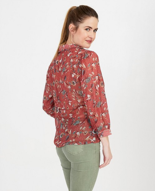 Hemden - Bordeaux blouse Ella Italia