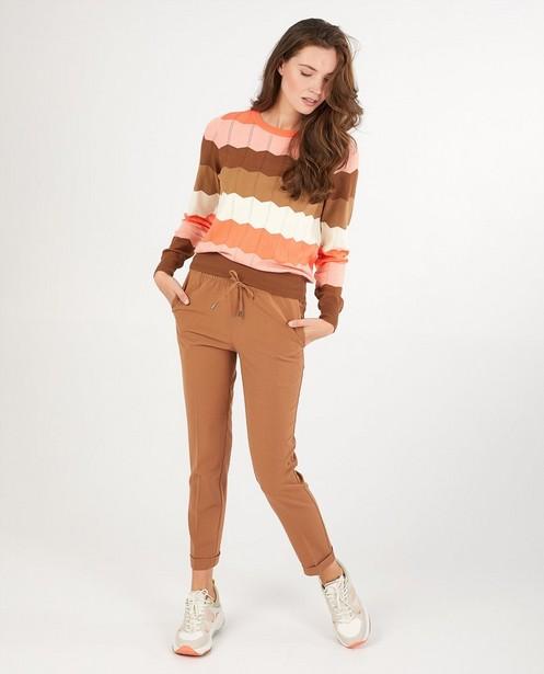 Pantalon brun Sora - plis repassés - Sora