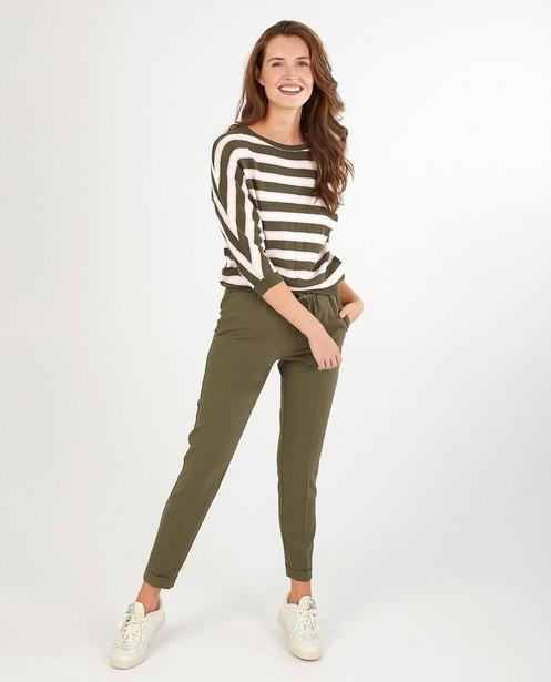 Pantalon vert Sora - plis repassés - Sora