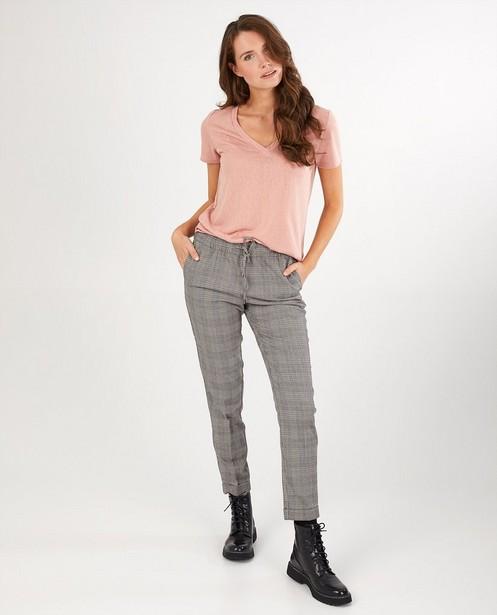 Pantalon gris à carreaux Sora - sur toute la surface - Sora