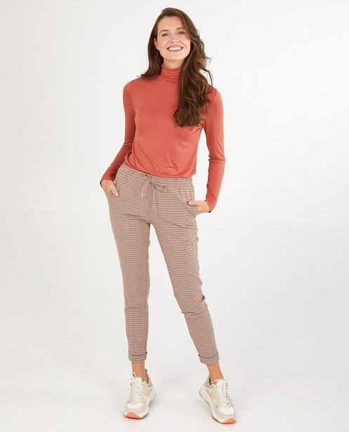 Pantalon rose à carreaux Sora - sur toute la surface - Sora
