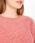 Pulls - Roze trui met ajourpatroon