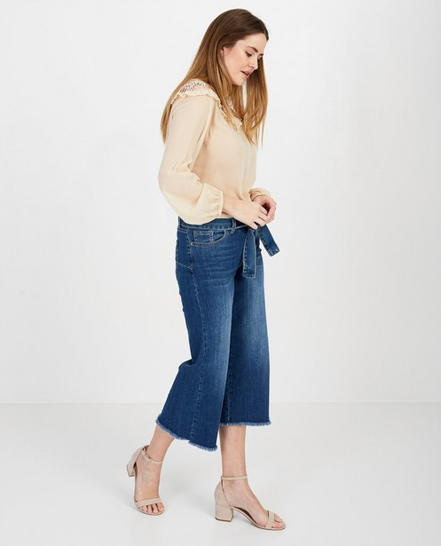 blauwe culotte jeans Ella Italia - null - Ella Italia