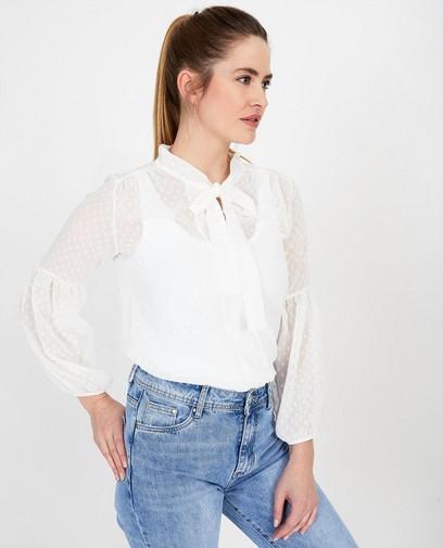 Witte blouse met strik Ella Italia