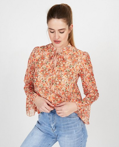 oranje blouse Ella Italia