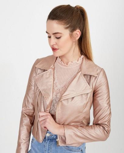 Glanzend roze vest Ella Italia