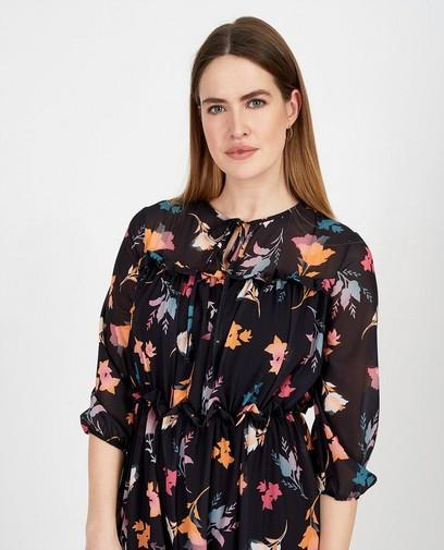 Zwarte maxi-jurk Ella Italia