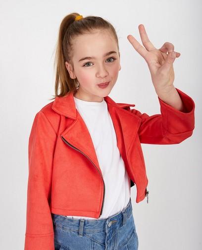 Rode jasje van suède Ella Italia