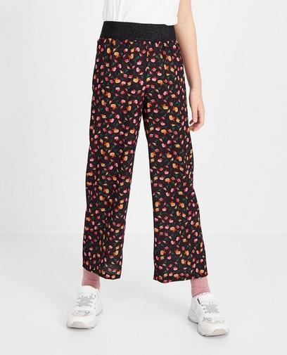 Zwarte broek met print Ella Italia